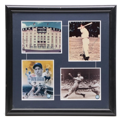 Joe DiMaggio Signed Framed Display, Visual COA