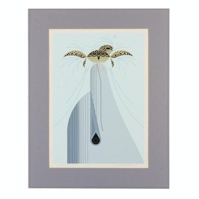 "Charley Harper Limited Edition Serigraph ""Dolfun"""