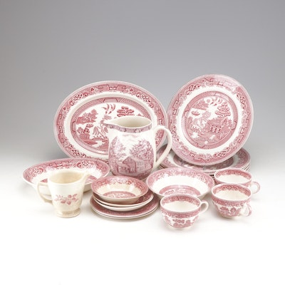 "Alfred Meakin ""Old Willow"" and Other Ironstone Dinnerware, Early 20th Century"