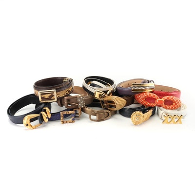 Alexis Kirk and Other Leather, Lizard, Karung, Python, and Snakeskin Belts