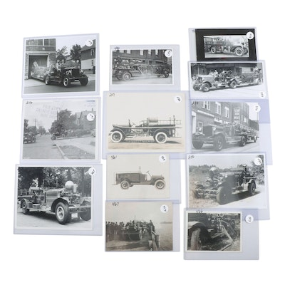 Fire Trucks Studio and Snapshot Photos Collection, 1910s-1920s