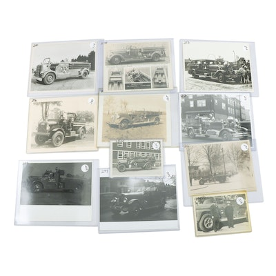 Fire Trucks Automotive Promotional and Snapshot Photos, 1930s