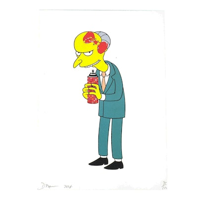 Death NYC Mr. Burns Graphic Print