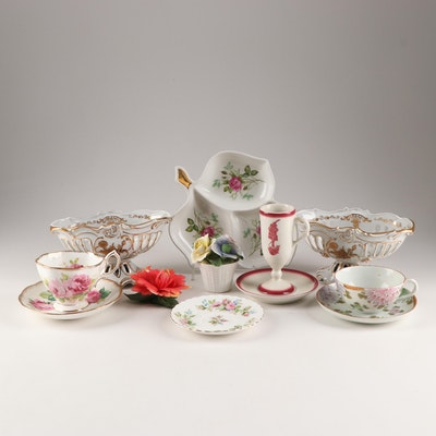 Koslyn, Royal Albert, Capodimonte and Other Porcelain Serveware and Tableware