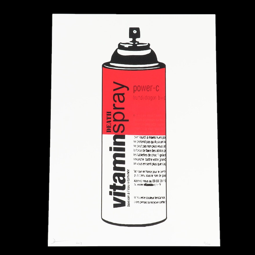Death NYC Vitamin Spray Graphic Print