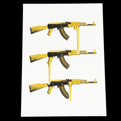 "Death NYC Graphic Print ""AK Yellow"""
