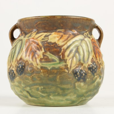 "Roseville Pottery ""Blackberry"" Vase, Early 20th Century"