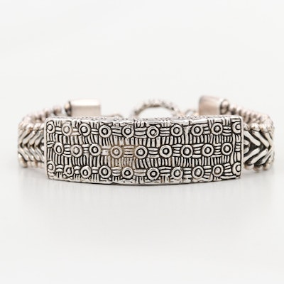 Balinese Style Sterling Silver Bracelet with Filigree Detail