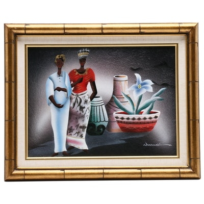 African Style Abstract Oil Painting