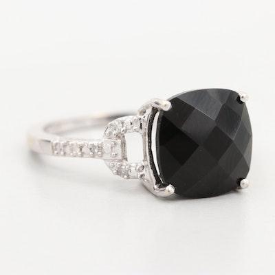 Vintage 10K Gold Black Onyx and Diamond Catholic Fraternity