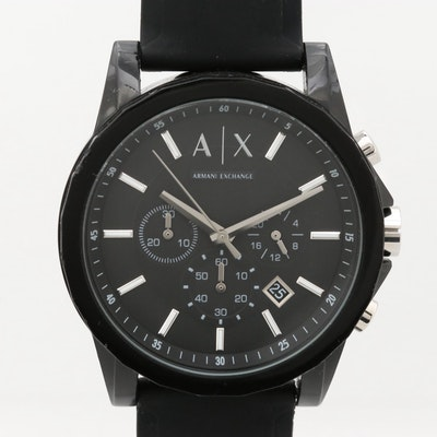 Armani Exchange Active Stainless Steel and Resin Wristwatch