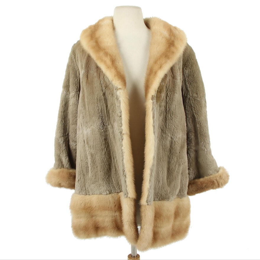 Mink and Sheared Rabbit Fur Parka Style Coat from Ebner Haus