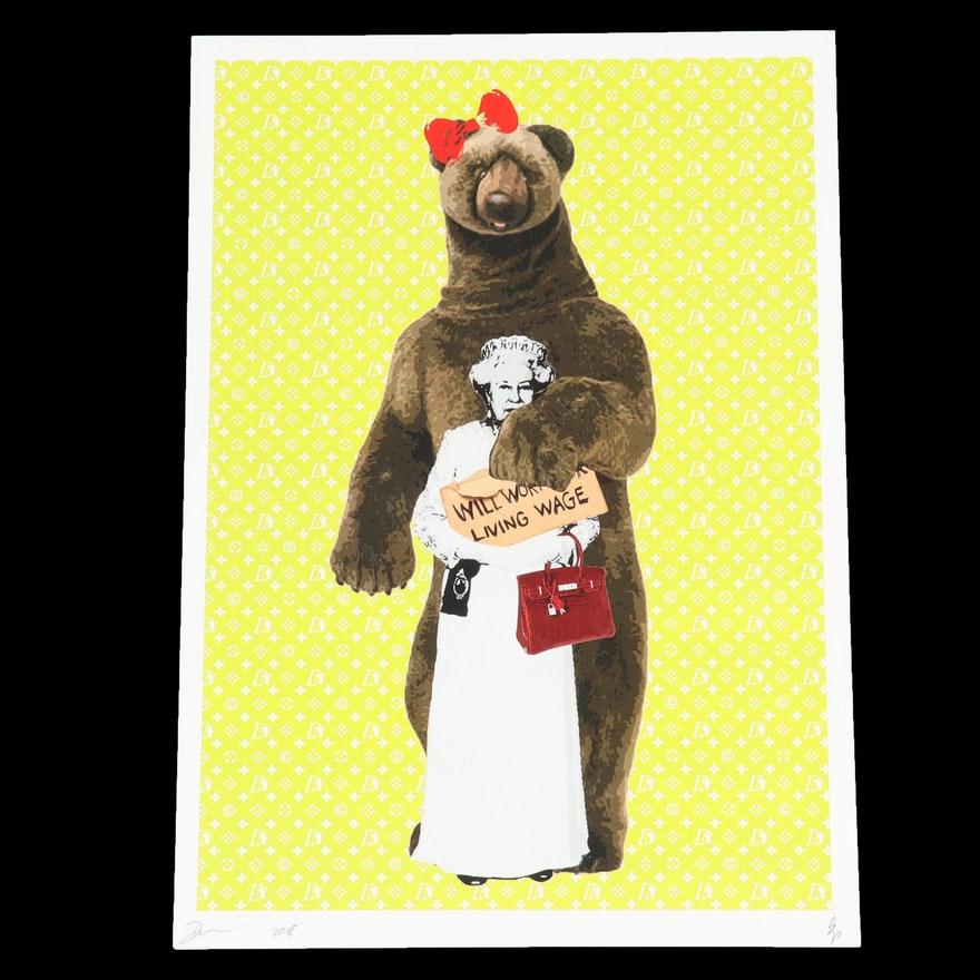 "Death NYC Graphic Print ""Bear Queen"""