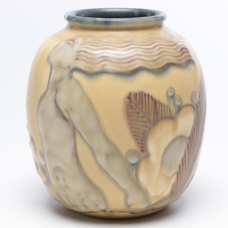 William E. Hentschel Art Deco Rookwood Pottery Vase, 1931