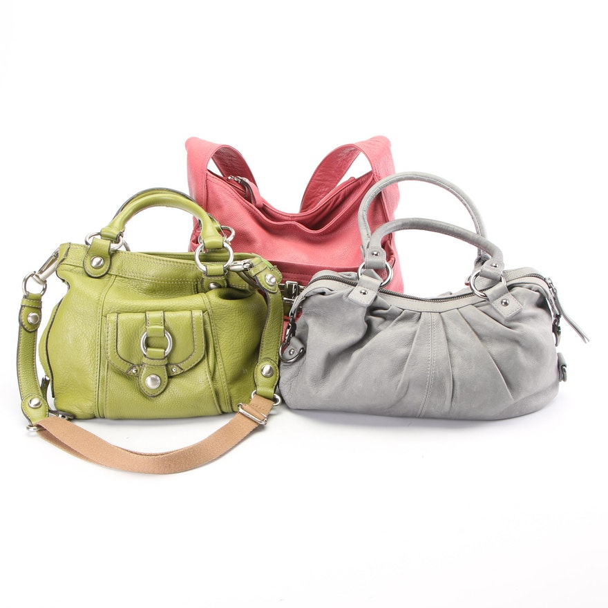 B. Makowsky and Nordstrom Grained Leather Handbags