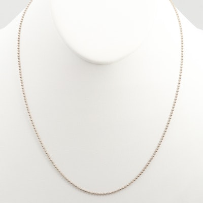 Sterling Silver Beaded Chain Necklace