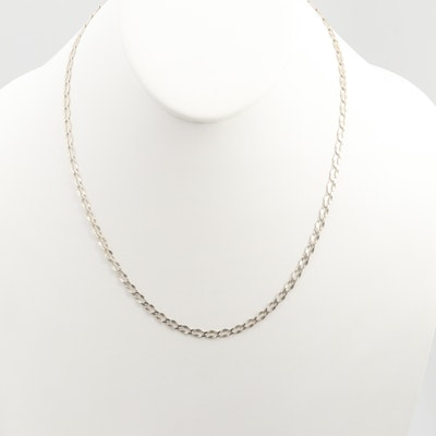 Sterling Silver Princess Style Chain Necklace