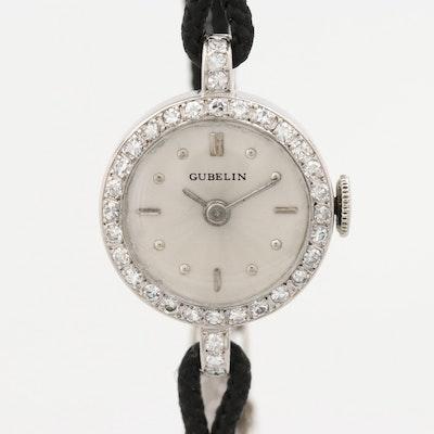 Gubelin Palladium and Diamond Wristwatch