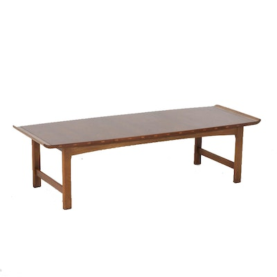 Modern Walnut Coffee Table by Lane Furniture, Mid-Century