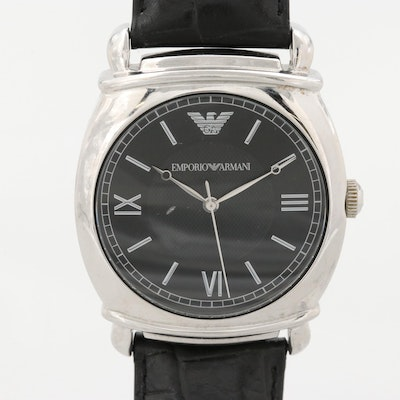 Emporio Armani Stainless Steel Wristwatch
