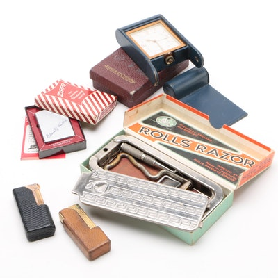 Zippo and Dunhill Lighters, Jaeger-LeCoultre Travel Clock, and More, Vintage