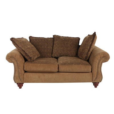 Contemporary H.M. Richards Inc. Chenille Upholstered Loveseat