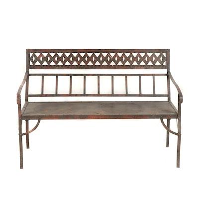 Contemporary Steel Patio Bench