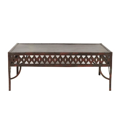 Contemporary Steel Patio Coffee Table