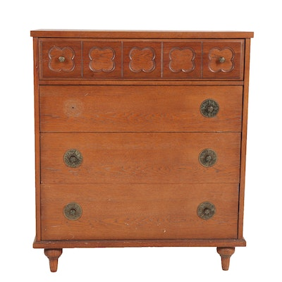 Transitional / Modern Birch and Ash Chest of Drawers, Mid-20th Century