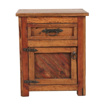 Spanish Colonial Style Reclaimed Wood Side Cabinet