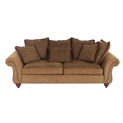 Contemporary H.M. Richards Inc. Chenille Upholstered Sofa