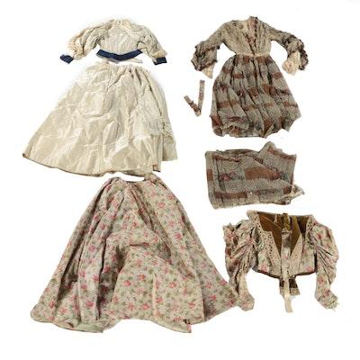 Taffeta and Chiffon Dress Sets, 19th to Early 20th Century