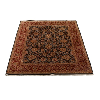 Hand-Knotted Indian Tabriz Wool Rug from Oscar Isberian
