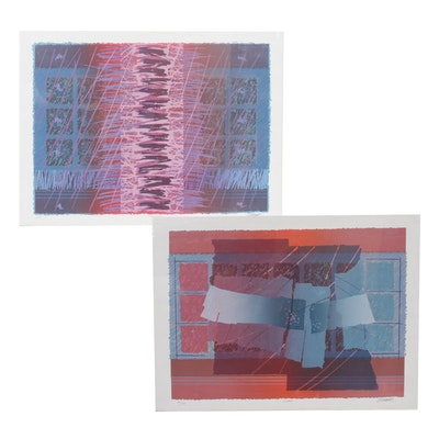 "E. Platt Serigraphs ""Time"" and ""Challange"""