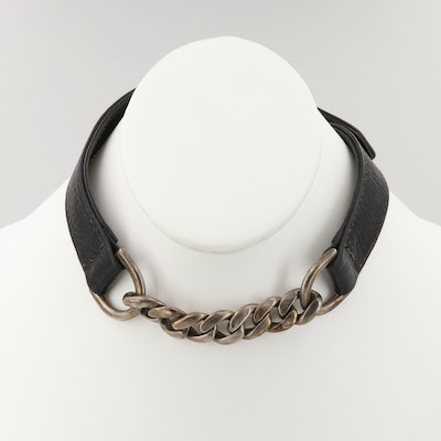 Chrome Hearts Sterling Silver Collar Necklace