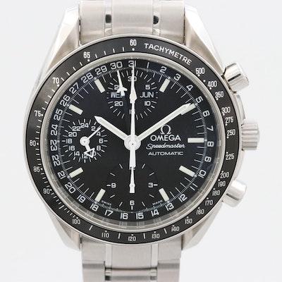 Omega Speedmaster Mark 40 Triple Calendar Steel Automatic Chronograph Circa 1998