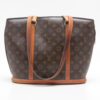 Louis Vuitton Monogram Canvas Babylone Tote Bag Trimmed in Vachetta Leather