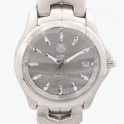 TAG Heuer Link Tiger Woods Limited Edition  Stainless Steel Automatic Wristwatch