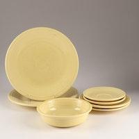 """Homer Laughlin China """"Fiesta"""" Contemporary Yellow Dinnerware"""