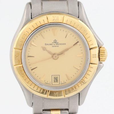 Baume & Mercier Malibu Lady 18K Gold and Stainless Steel Wristwatch