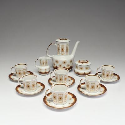 Pirkenhammer Lada Czechoslovakia Porcelain Demitasse Set, Mid-Century