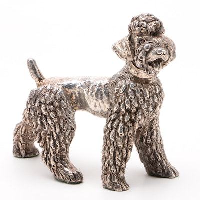 Sterling Silver Figurine of a Standard Poodle