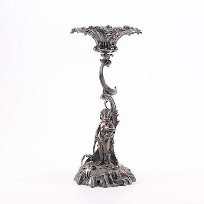 Elkington & Co. Silver Plate Figural Centerpiece