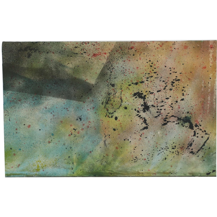 Oscar Murillo Abstract Oil Painting