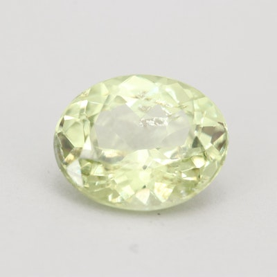 Loose 3.91 CT Green Sapphire Gemstone