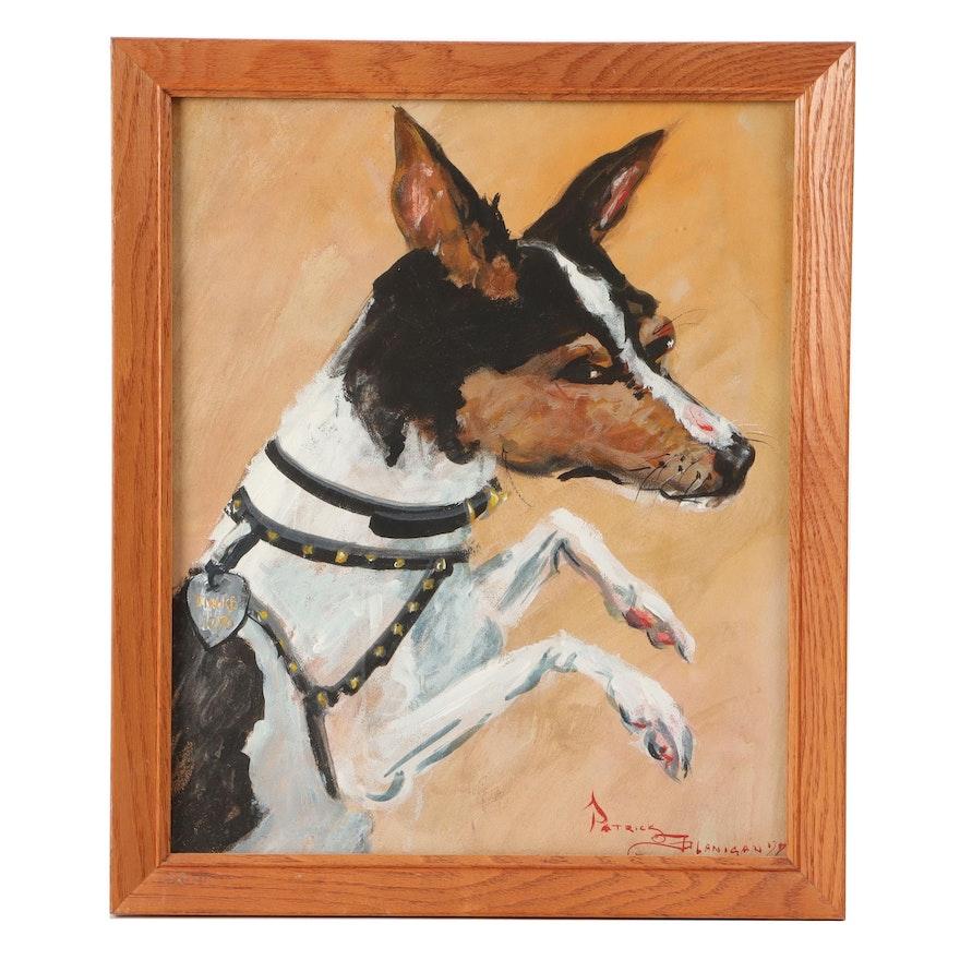 Patrick Flanigan Dog Portrait Acrylic Painting
