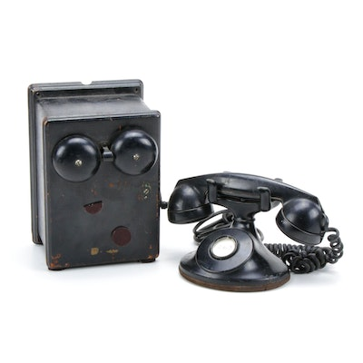 Vintage Bell System Western Electric F1 Telephone with Ringer Box