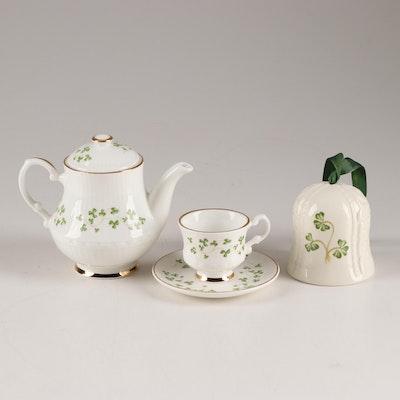"Belleek Porcelain and Royal Tara Bone China ""Shamrock"" Dinnerware"