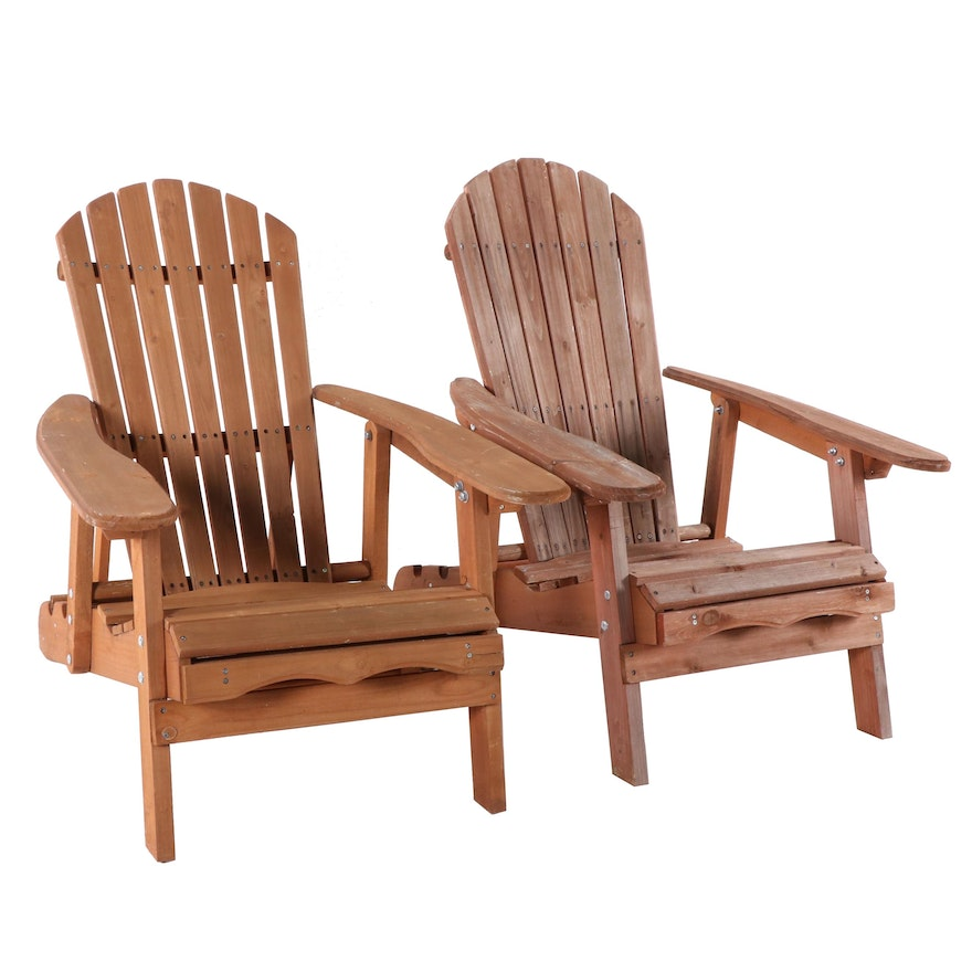 Contemporary Hayneedle Cedar Adirondack Chairs Ebth