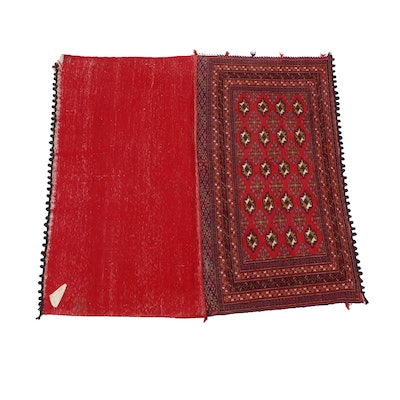 Hand-Knotted Turkoman Wool Storage Bag, Flat